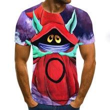 2020 nueva camiseta de moda con estampado 3d animales manga