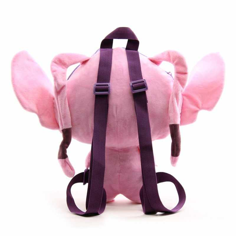 2019 nowy Lilo Stitch pluszowe lalki plecak śliczne niebieski różowy Stitch anioł Peluche tornister prezent dla dzieci dla dzieci chłopcy dziewczęta dla dzieci