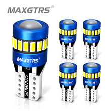 5 sztuk W5W 3030 3014 SMD samochodów T10 LED 194 168 wymienny klin tylnego instrumentu lampa panelowa białe żarówki dla światła obrysowe