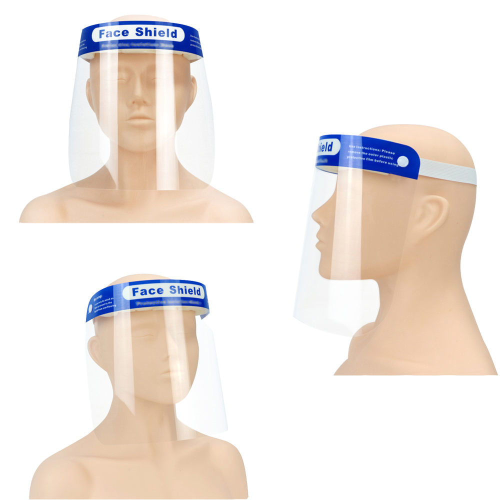 Reusable Protective Face Shield Head-mounted Full Face Shield Anti Droplets Saliva Splash-proof Covering Facial Shield Safety