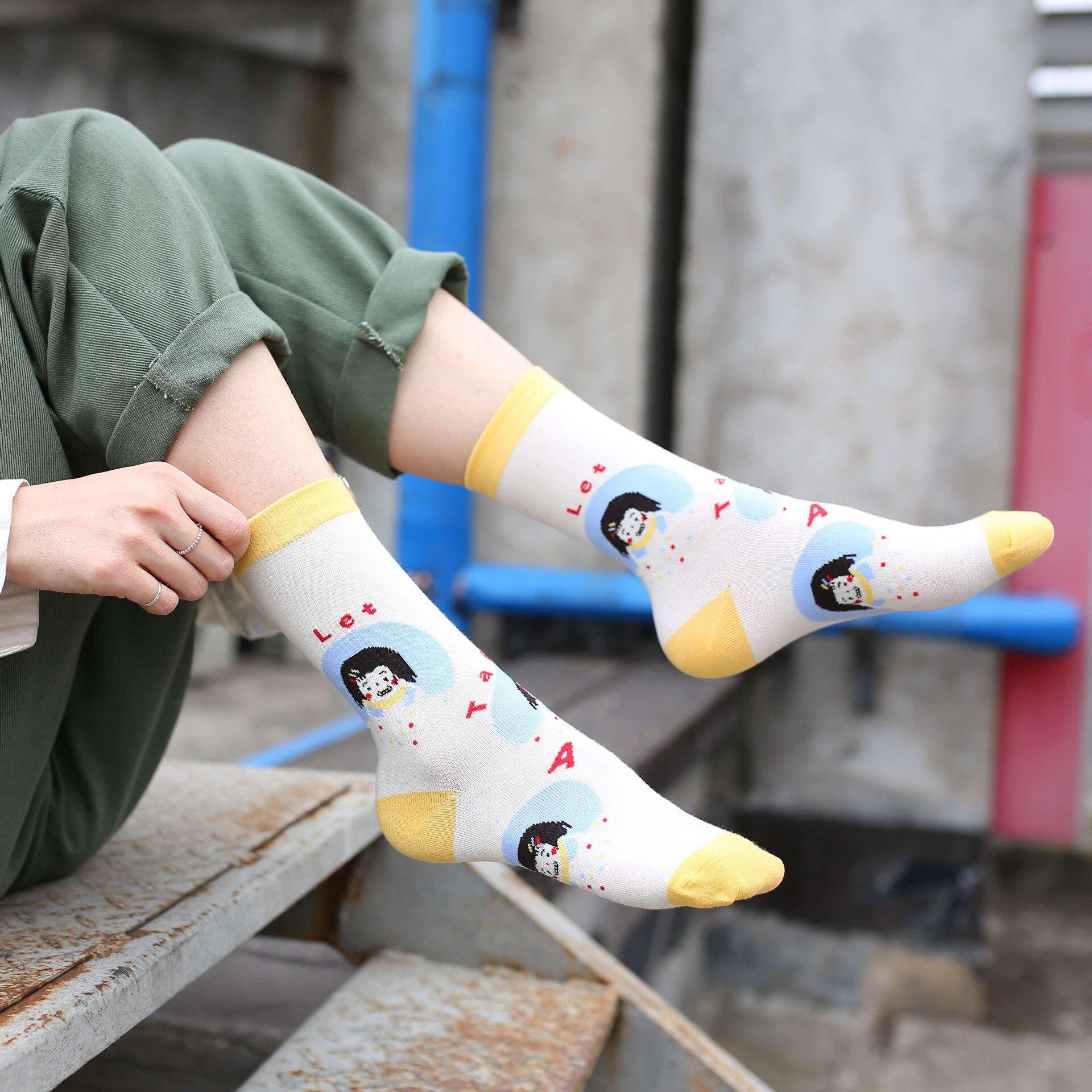 Women Socks Funny Cute Cartoon Fruits skateboard Socks in Socks from Mother Kids