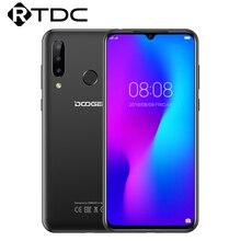 DOOGEE N20 6.3 FHD + Waterdrop 4GB 64GB parmak izi Smartphone16MP üçlü arka kamera MT6763 Octa çekirdek 4350mAh LTE cep telefonu
