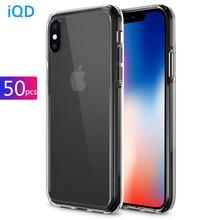 50 stuks Voor iphone 11 Pro Xs Max Case Transparante TPU Voor Apple iphone X Xr 8 7 Plus cover Hard Beschermende Voorzien Cases