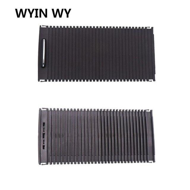 Wyin wy capa de copo para console, suporte de copo para console, persianas de rolo classe c e de armazenamento de zíper guarnição de caixa para w204 c180 c200