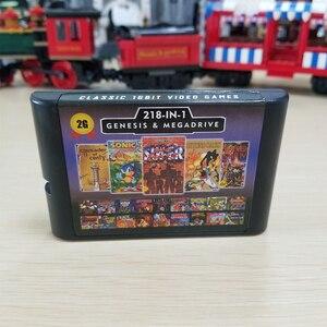 Image 3 - 2G קיבולת סוללה לחסוך 218 ב 1 משחק כרטיס עבור Sega Megadrive בראשית עם הניצוץ חיל השני Langrisser השני סוניק הקיפוד 3