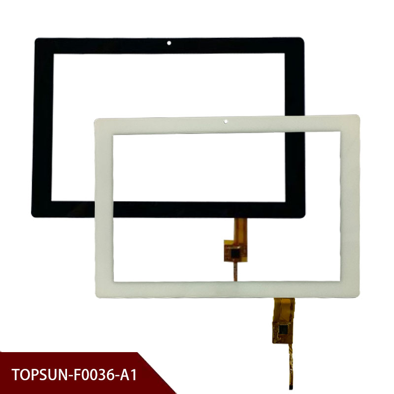 New A+ White Or Black10.1'' Inch Tablet Digitizer Glass TOPSUN-F0036-A1Tablet Touch Screen Panel Free Shipping