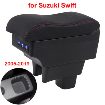 For Suzuki Swift Armrest box 2011 2014 2015 2016 2005-2019 Car armrest box car accessories interior storage box Retrofit parts for suzuki swift armrest box 2005 2019 car armrest car accessories interior storage box retrofit parts usb 2011 2014 2017 2018