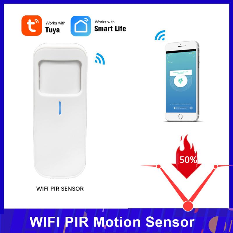 Tuya Smart Motion PIR Sensor Detector WIFI Movement Sensor Smart Life APP Wireless Home Security System Motion Sensor Via Tuya