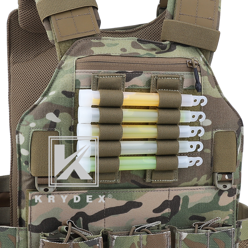KRYDEX For Chemlight Battery Elastic Storage Holder 5 Holes Shot Shell Tray Pen Hook & Loop Light Stick Elastic Storage Panel