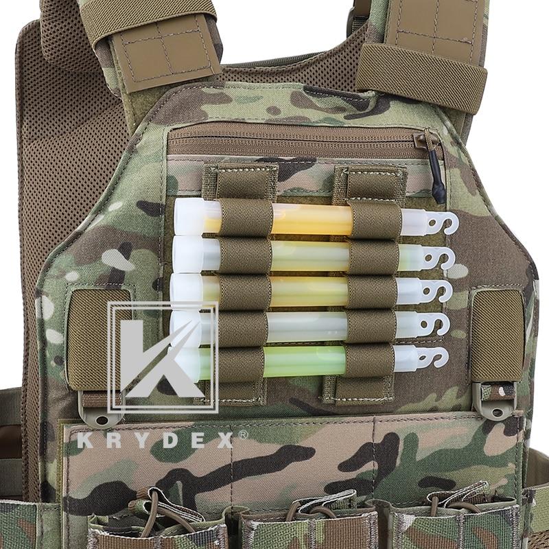 KRYDEX For Chemlight Battery Elastic Storage Holder 5 Holes Shot Shell Tray Pen Hook & Loop Light Stick Elastic Storage Panel