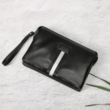Trend of the new mens handbags trend contrast color large mobile phone clutch bag