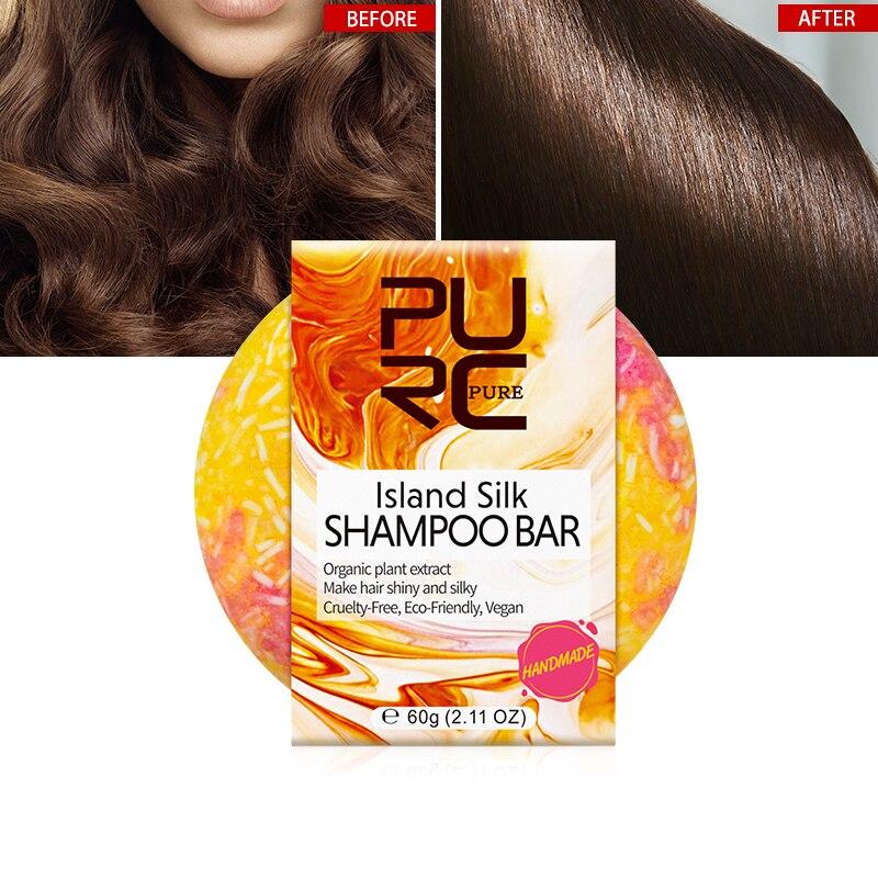 2021 PURC New Arrivals Organic Island Silk Shampoo Bar Handmade Cold Processed Dry Shampoo Soap Soild Portable Shampoo Bar