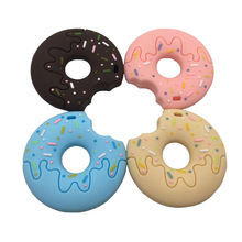 Baby Teethers Donuts Cartoon Cute Charms Teething Toys DIY Pacifier Clips Chains BPA Free Food Grade Silicone For Teeth