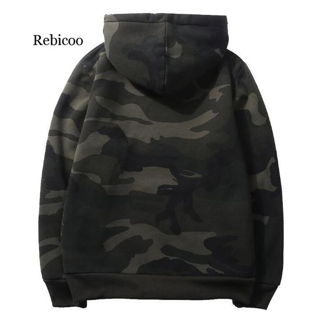 Plus Size Hoodies Camouflage Sweatshirt Men Hip Hop Cotton Tracksuit Sweat Hoodies Male Camo Hoody Military Hoodie US/EUR Size 1