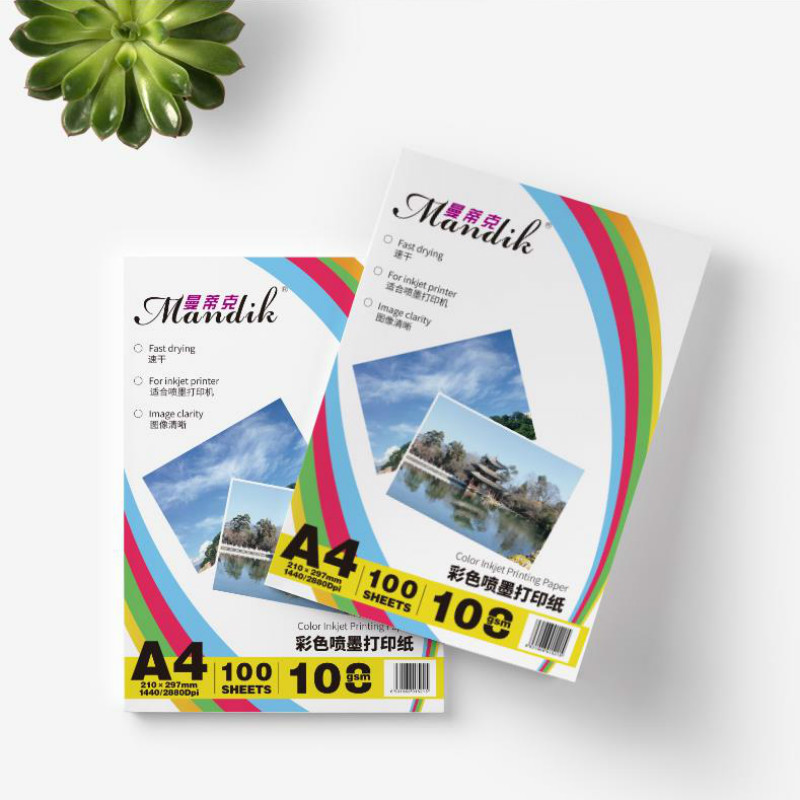 100 Sheets/package 108g A4 Single-sided Matt Photo Paper For Color Inkjet Printer Photo Paper Printing Paper Leaflet Printer