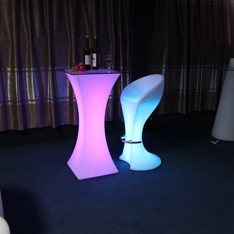 2019 mode lumière LED bar meubles meubles bar haut de gamme table de cocktail Europe et amérique mobilier de bar LED table durable