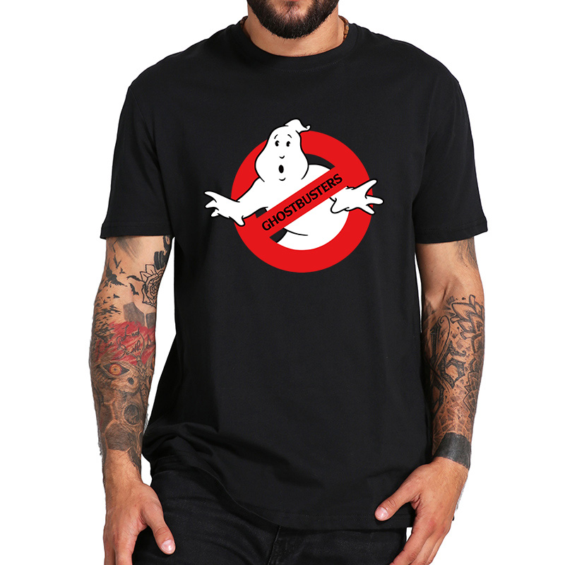 EU Size 100% Cotton T Shirt Ghost Busters Tshirt Comfortable Casual Short Sleeve Crew Neck Homme Tops