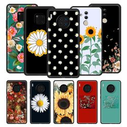 Silicone Phone Case For Huawei Nova 6 5 5z 7 SE Mate 20 10 Lite 30 Pro 5G 2020 Protection Back Cover Daisy Floral Flower