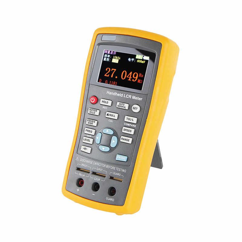 ET430 ハンドヘルド-Lcr メータ 100 125khz LCR デジタルブリッジ計容量インダクタンス抵抗計高精度ブリッジメーター