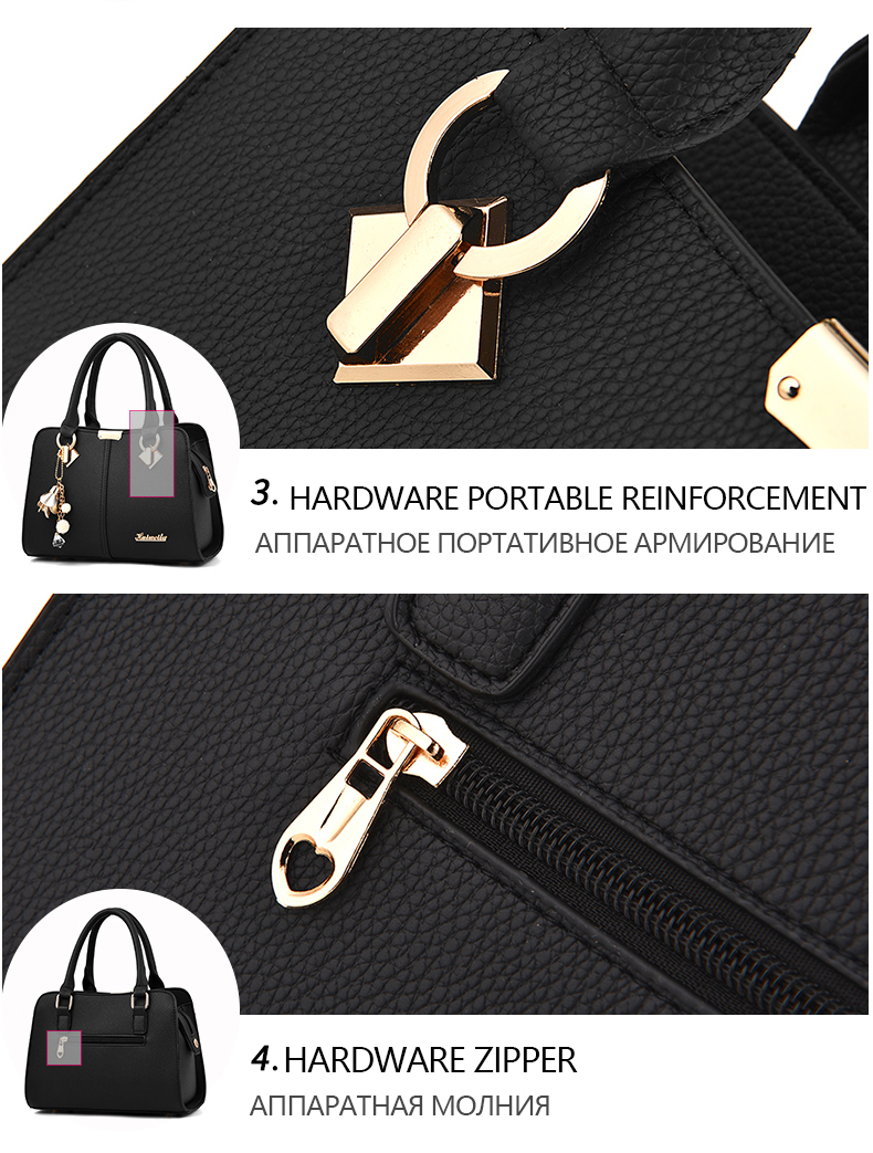 Designer Brand Bags Ladies Leather Tote Bag 2020 Luxury Ladies Handbag Wallet Fashion Shoulder Bag 15