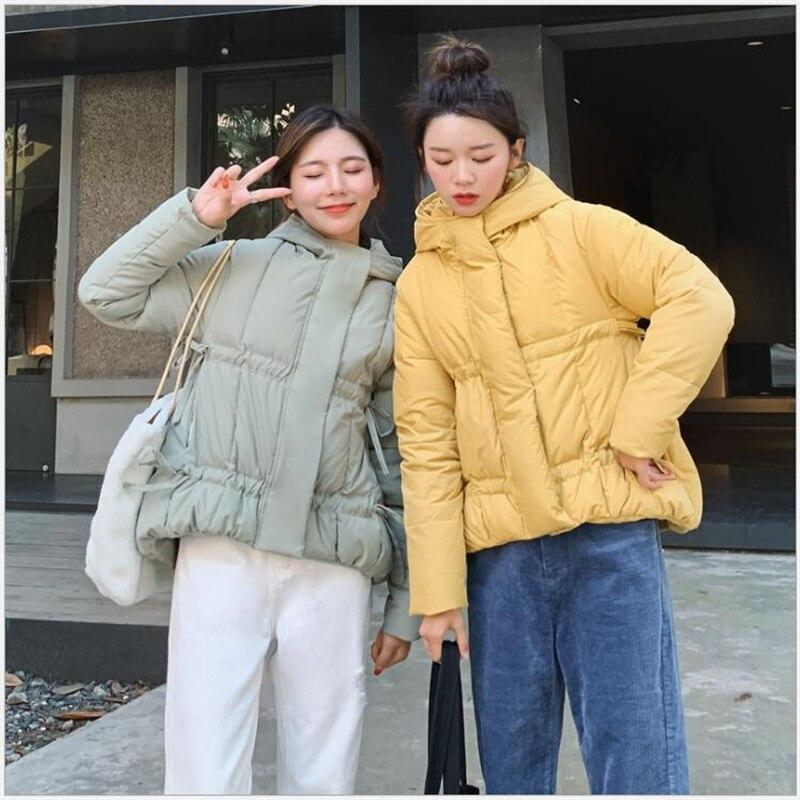 2019 Women Winter Jacket Casual Autumn Female Cotton Padded Outwear bread Coat Short Hooded   Parka   Casaco Feminino 268