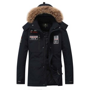 Image 2 - Winter Jacket Down Men Military 80% Duck Warm Men Parkas Thick Padded Waterproof Casual Loose Fur Hood Windproof Coat Plus Size