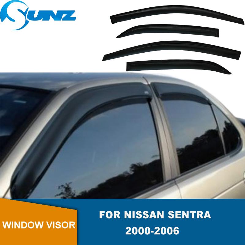 Windows Visor Sun Guard 4pc For Nissan Sentra 2004 2005 2006 4-Door Sedan S SE-R
