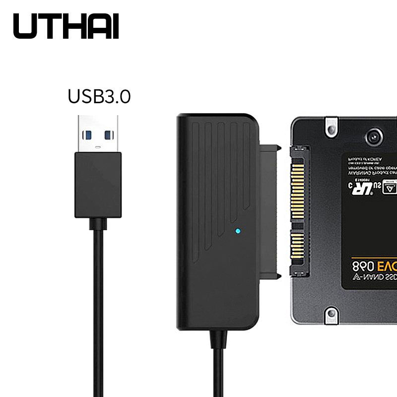UTHAI T35 HDD Adapter Of SSD USB3.0 Type-C To SATA3 Converter Cable For 2.5 3.5 Inch SATA Hard Drive Disk SSD 5Gbps JMS578 Chip