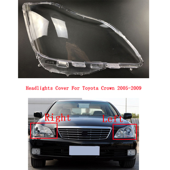 Car Front Headlamps Transparent Lampshades Lamp Shell PC Headlights Cover For Toyota Crown 2005-2009
