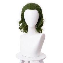 Джокер происхождения фильм ужас страшный клоун Джокер парик косплей Хоакин Феникс Артура Флек кудрявые зеленые синтетические волосы Хэллоуин