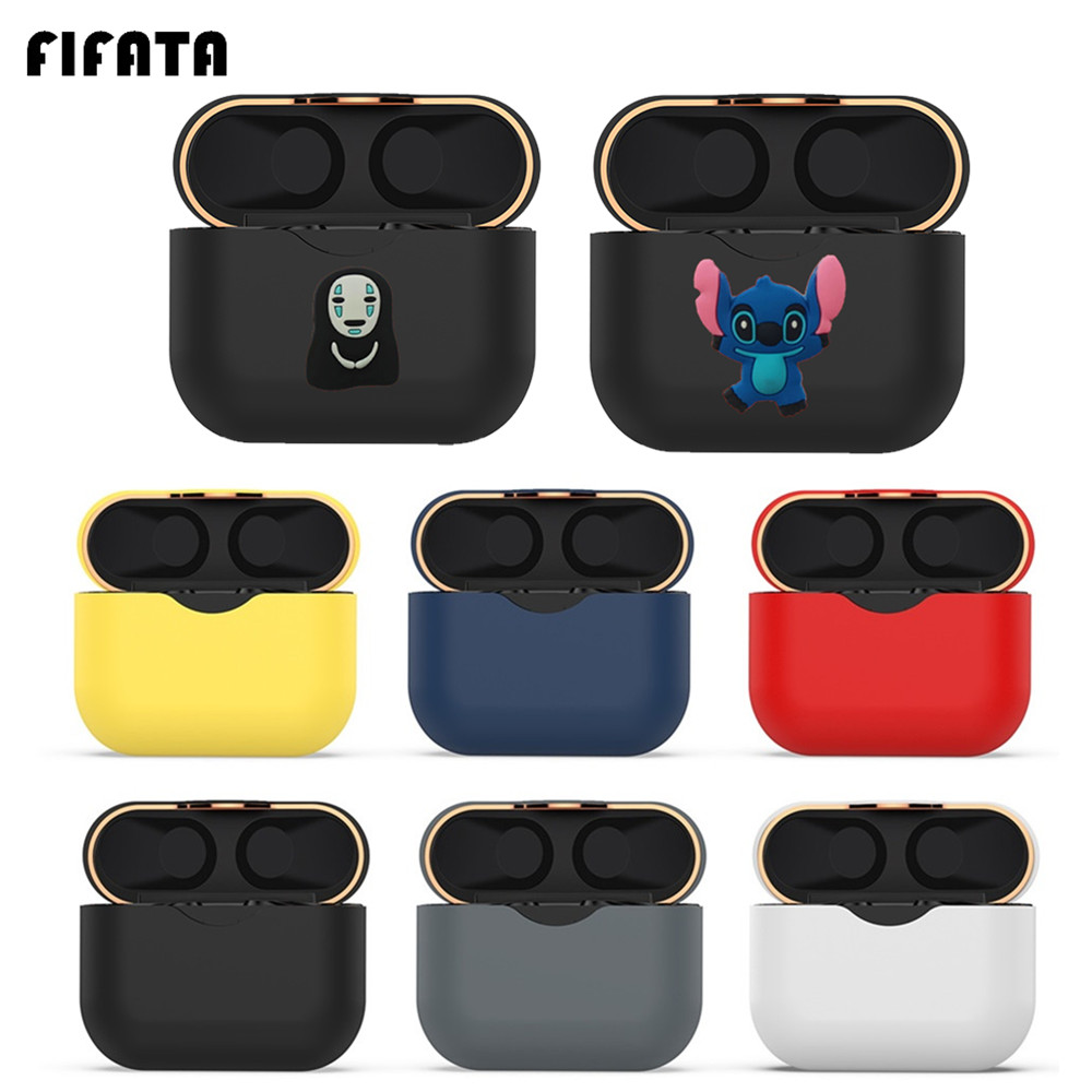 FIFATA Protective Case For Sony WF-1000XM3 TWS Wireless Bluetooth Earphone Charging Box Case Cover TPU Silicone Protector Frame