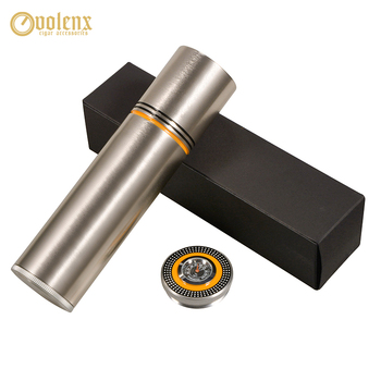 VOLENX Portable Cigar Tube with Humidifier Hygrometer for Party Travel Outdoor Hold 3 Cigar Box Aluminum Alloy Cigar Case валентин лакодин и cigar hall band 2019 02 08t20 30