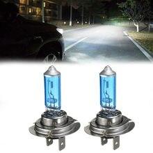 Uds H7 bombillas de faro delantero de Coche 55W/12V 100W 6000K Gas xenón halógena bulbo de lámpara de luz blanca de Coche lámpara de cuarzo accesorios de Coche