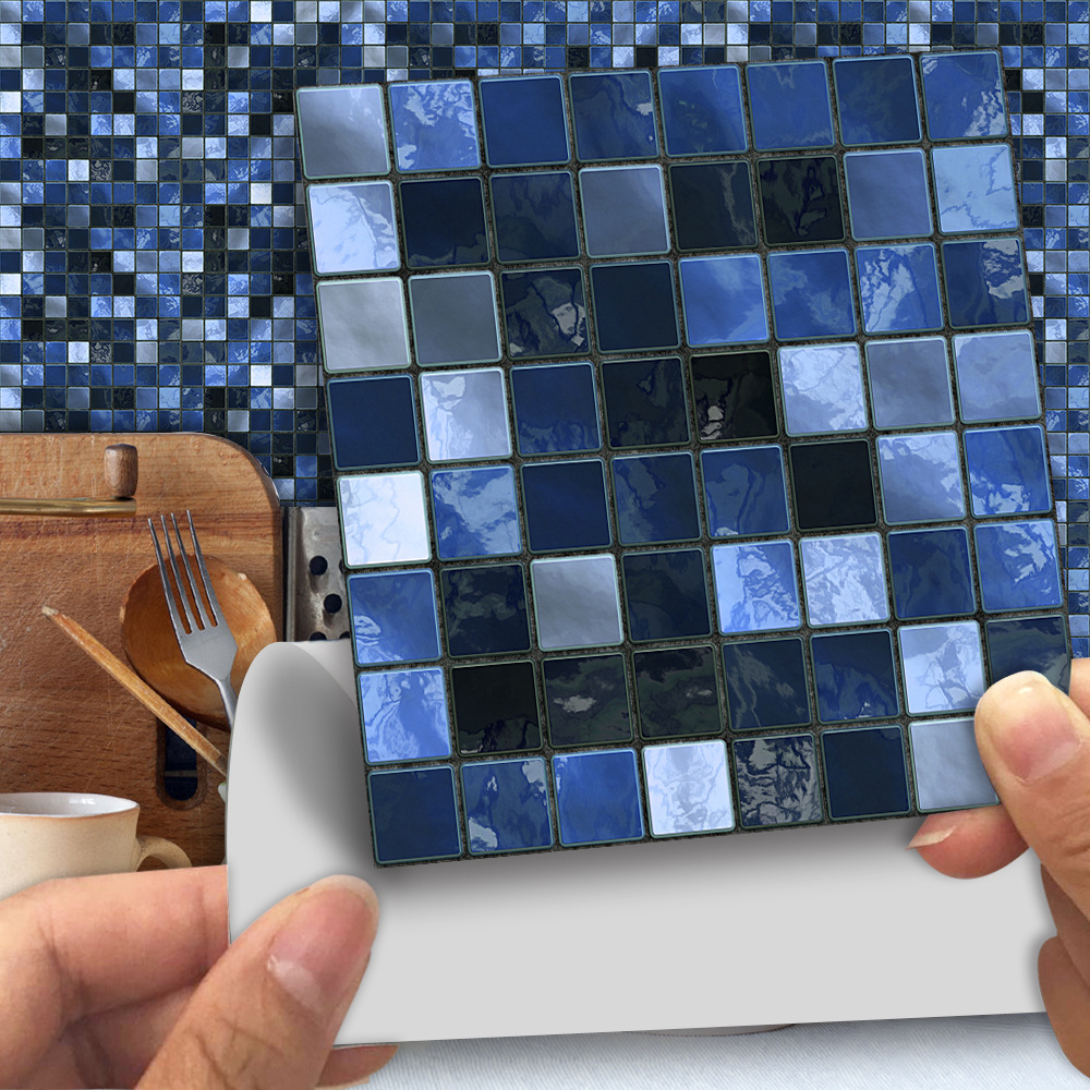 Tile Bathroom Decor Mosaic Sticker Tv-Background-Walls Self-Adhesive PVC Waterproof 25pcs/Pack title=