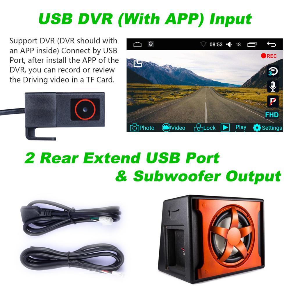 9in Auto GPS Navigation Gerät WIFI FM Bluetooth Kompass Dual-modus Navigation Modul Android 7.1 Rückansicht Kamera Eingang Für VW