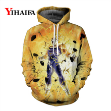 3D Sweatshirt Fashion Mens Anime Hoodies Power Goku Dragon Ball Z Graphic Print Pullover Tracksuit Cartoons Hip Hop Tops цены