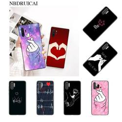 NBDRUICAI любовь kpop Сердце Рисунок блестящий милый чехол для телефона Samsung Note 3 4 5 7 8 9 10 pro M10 20 30