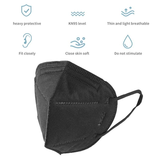 1/5/10/20PCS Black Face Mouth Mask Filter Pad Fashion Anti Flu Mask Pollution Dustproof Breathing Safety Caps for KF94 N95 KN95 3
