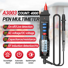 A3003 Digital Multimeter Pen Type Meter 4000 Counts with Non Contact AC/DC Voltage Current Resistance Capacitance Hz Tester Tool