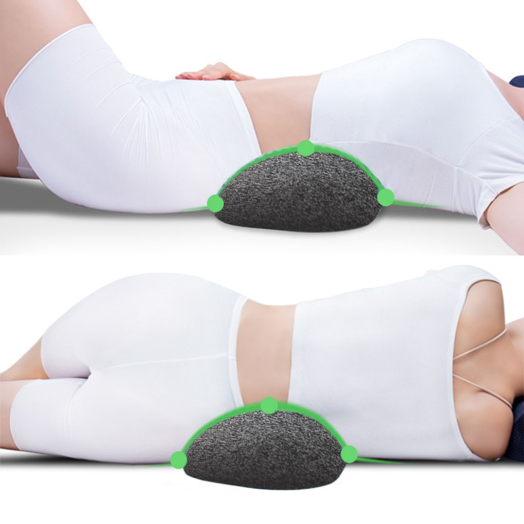 Durable Lumbar Spinal Pillow for Car Seat to provide maximum Support to Legs Spine and Waist 2