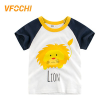 VFOCHI New Arrival Boys T Shirt Cartoon Lion Print Kids T Shirt 2-10Y Teenager Boy Tops Tee Cute Boy Clothes Baby Boy T Shirts цена и фото