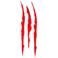 Reflective Monster Claw Scratch Stripe  6