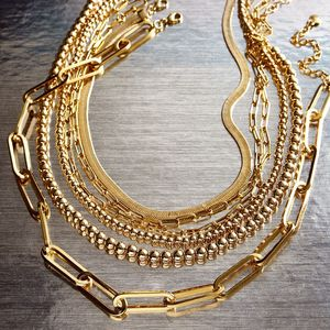 Best lady New Vintage Gold Chain Necklace for Women Multi Layer Star Heart Pendnat Long Statement Necklace Party Hip Hop Jewelry