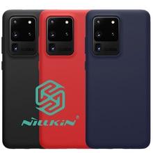 Nillkin Vloeibare Siliconen Case Voor Samsung Galaxy S20 Ultra Plus Soft Gel Rubber Beschermende