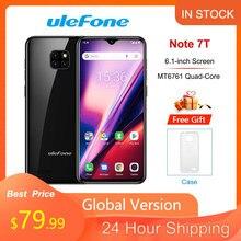 Ulefone nota 7t 3500mah 2gb ram 16gb rom smartphone android 10.0 6.1 waterwatertela waterdrop 19:9 quad core 4g telefone móvel