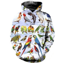 Tessffel Animal parrot Harajuku MenWomen HipHop 3Dfull Printed Sweatshirts/Hoodie/shirts/Jacket  Casual fit colorful camo Style4