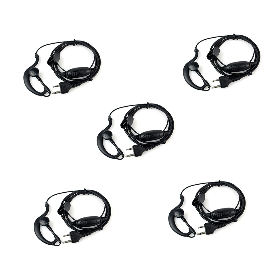 5pcs New G-Shape Earpiece Headset PTT MIC For Midland Radios LXT GXT 75-810 75-786 75-785 75-510 75-501 J6163A