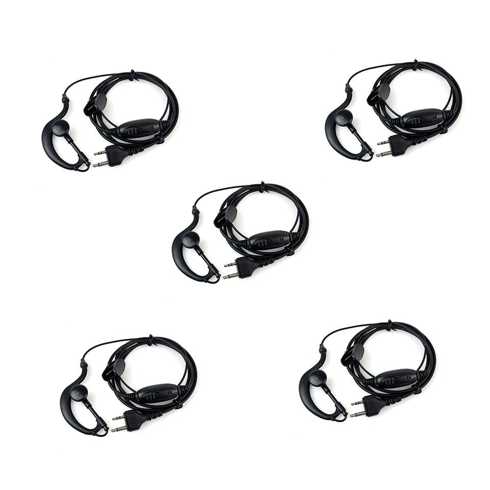 5pcs New G-Shape Earpiece Headset PTT MIC For Midland Radios LXT GXT 75-810 75-786 75-785 75-510 75-501 J6163A