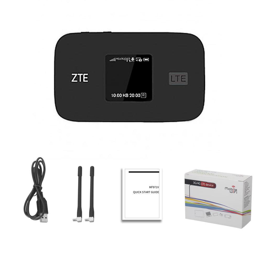 Original Unlocked ZTE MF971V 300Mbps 4G+ LTE Cat6 Mobile WiFi Hotspot 4G Mifi Bands FDD B1/2/3/4/5/7/8/17&12/20/28 And TD