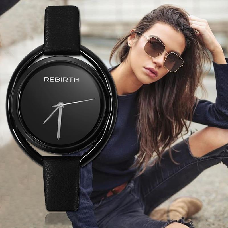 REBIRTH Women's Watch Luxury Montre Femme 2019 Fashion Ladies Watches For Women Bracelet Reloj Mujer Rose Gold Zegarek Damski